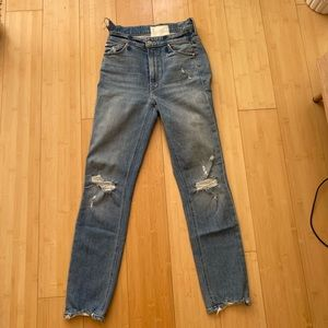 Mother the dazzler shift chew jeans 25